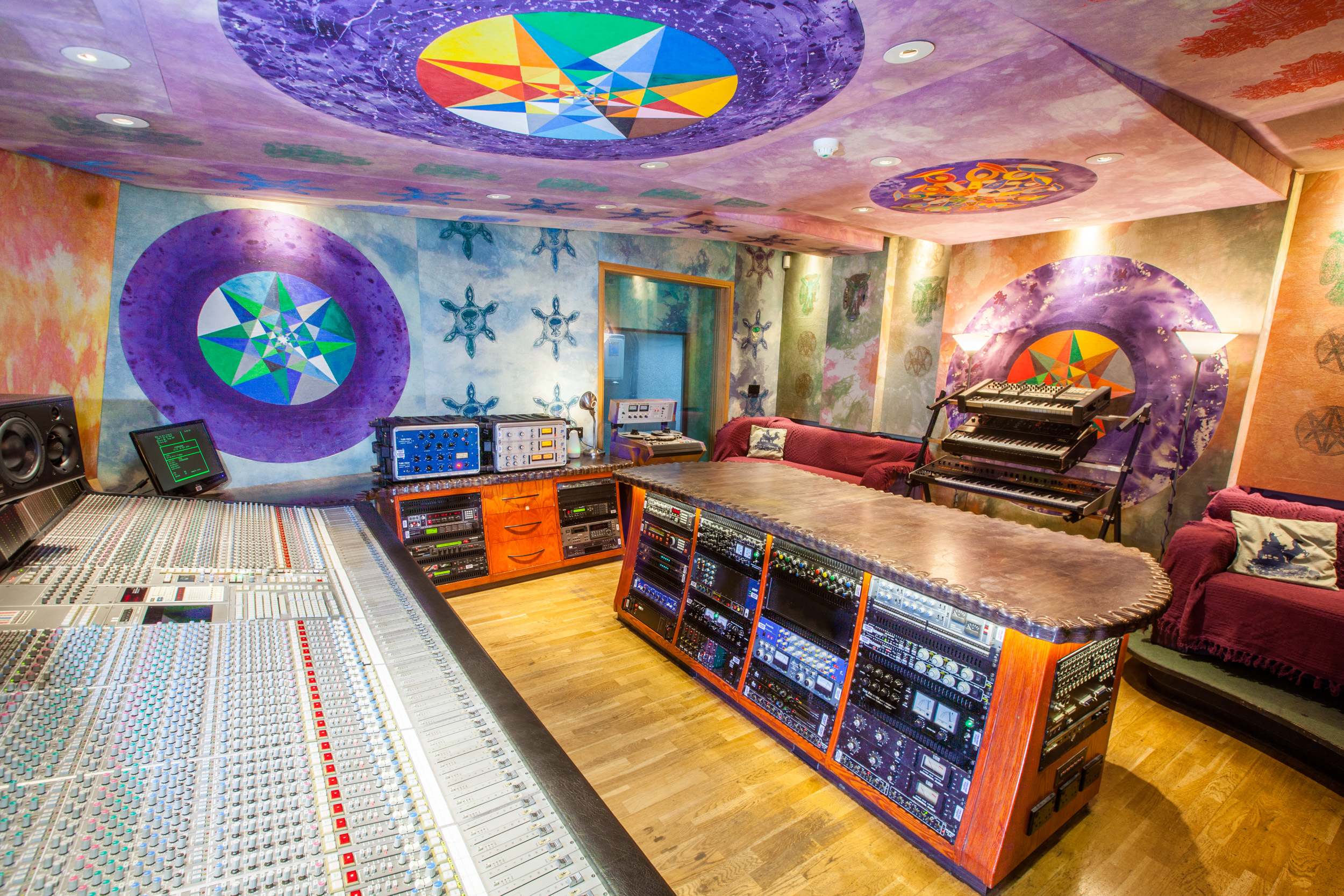 4. Studio 3 desk and outboard from front left